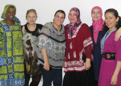 Les employées d'Afrique au Féminin posent ensemble