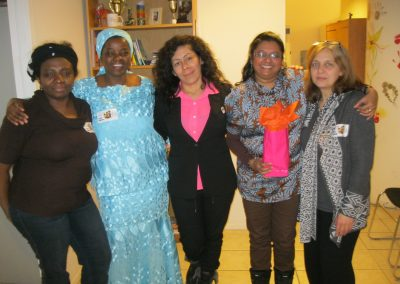 L'équipe d'Afrique au Féminin au bureau