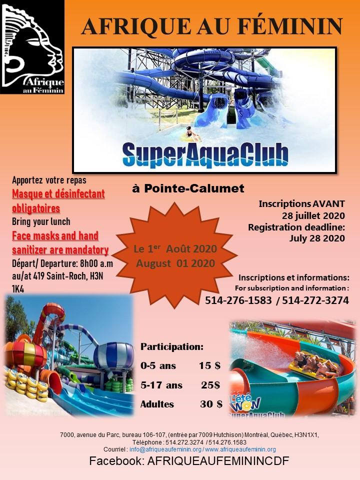 Sortie au Super Aqua Club à Pointe-Calumet