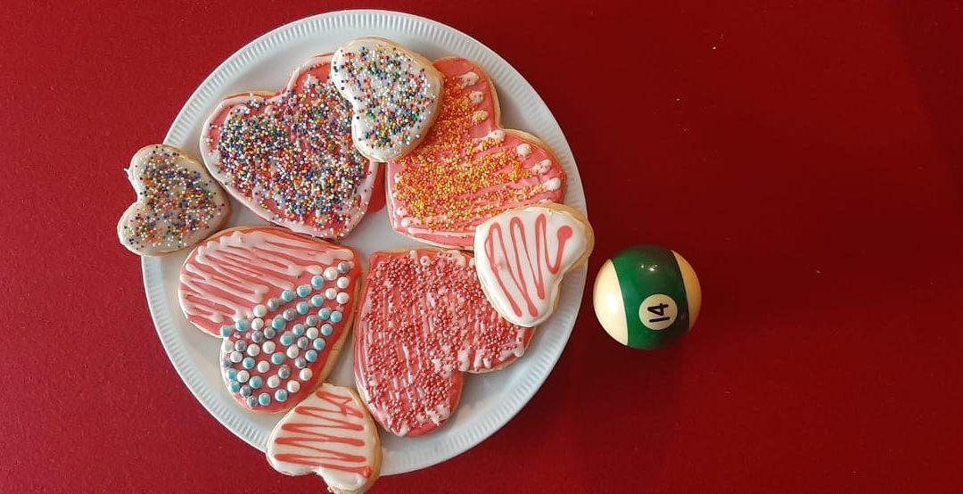 Biscuits en forme de coeur pour le Saint-Valentin