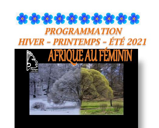 Programmation Hiver-Printemps-Été 2021